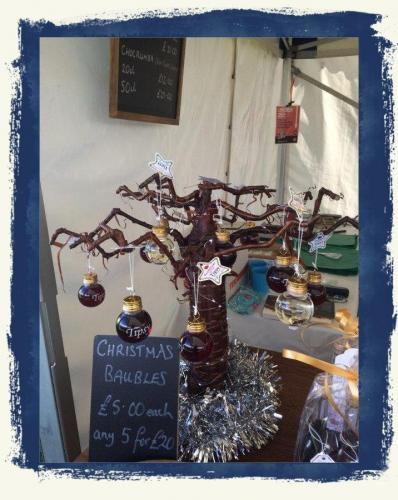 Miniature Christmas Display Stand At Ludlow Food Festival 2019